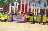 শিক্ষাপ্রতিষ্ঠান খোলার দাবিতে টাঙ্গাইলে শিক্ষার্থীদের মানববন্ধন